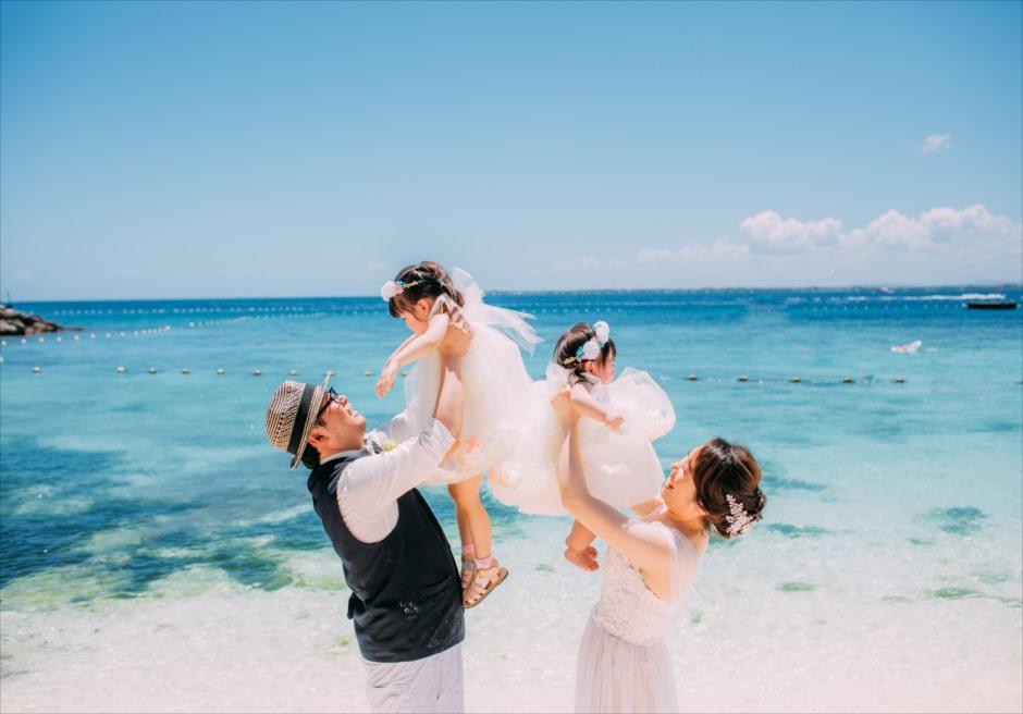 シャングリラ・マクタン・リゾート・アンド・スパの透明度抜群のビーチ前で加速写真
