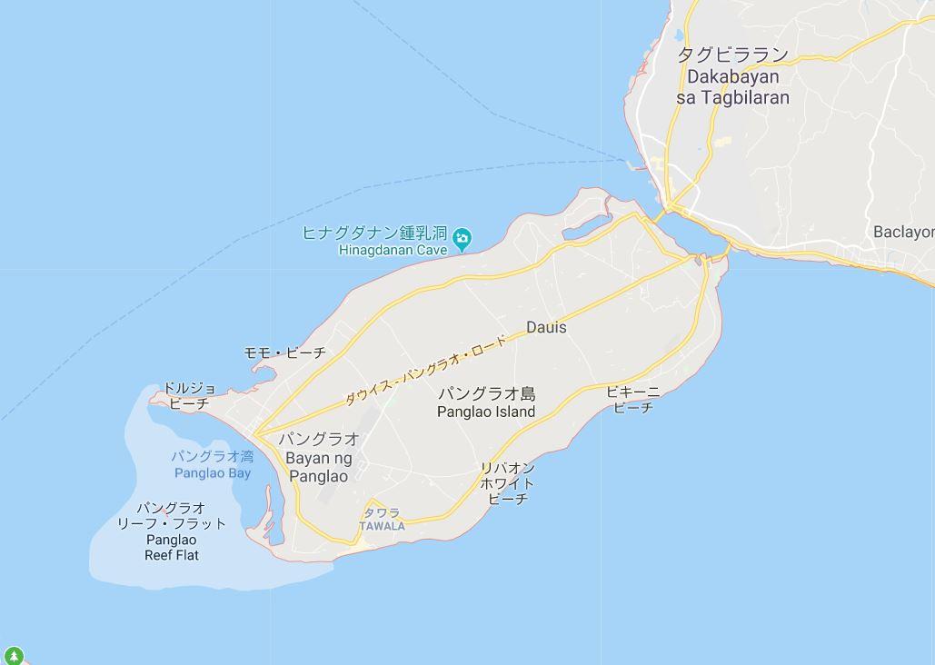 ボホール島のホテル&リゾート マップ