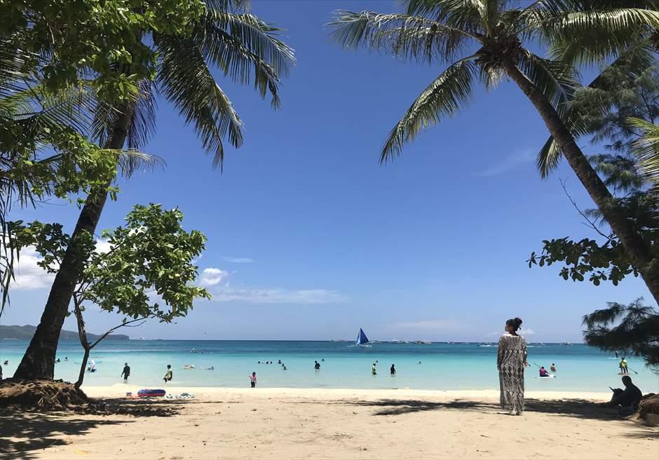 ボラカイ島の撮影スポット ホワイトビーチ