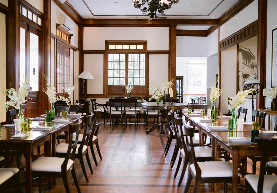 セブ・シティにあるコロニアルな雰囲気の洗練されたレストラン・シルカ1900ではウェディング・パーティーもできます。