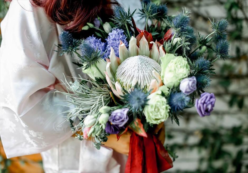 セブの気候にあったフォトウェディングで人気のトロピカルな生花ブーケ