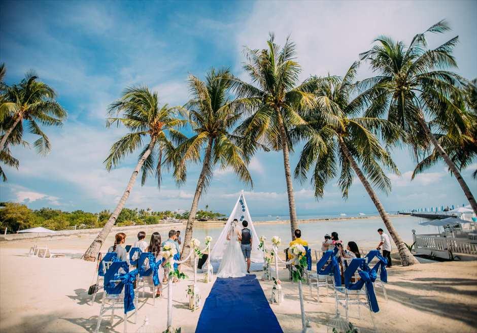 パシフィック・セブ・リゾートのインスタ映えビーチ挙式