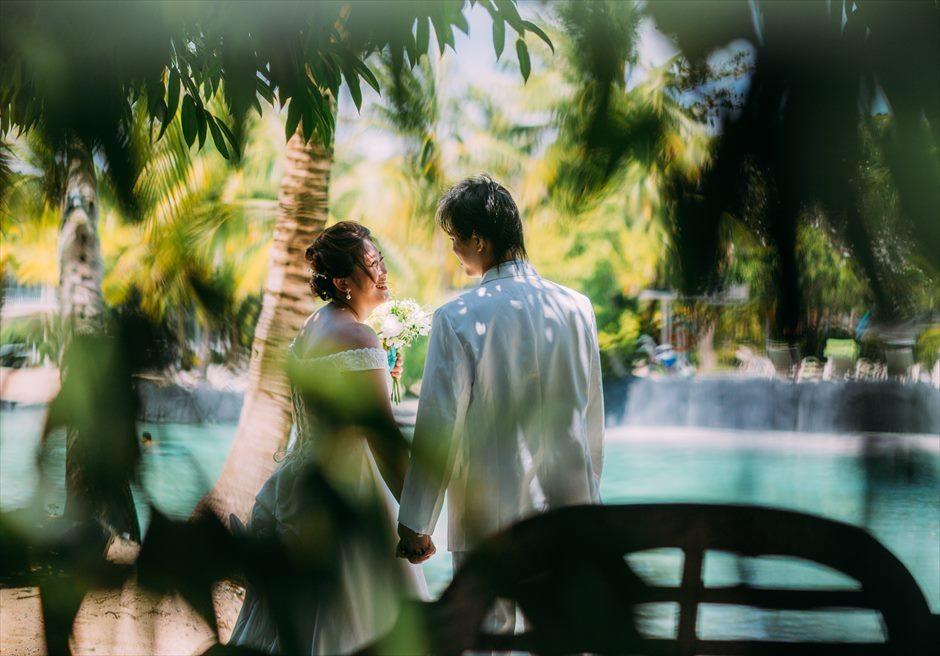 プランテーション・ベイのガーデンでナチュラルな結婚式前撮り