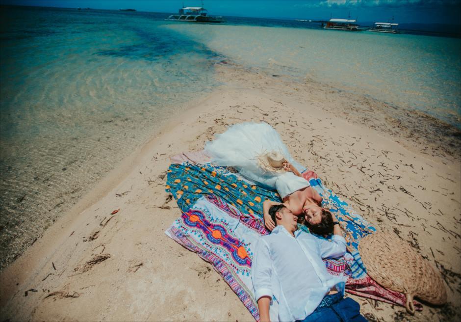 セブのカオハガン島でフィリピン人フォトグラファーのフォト撮影