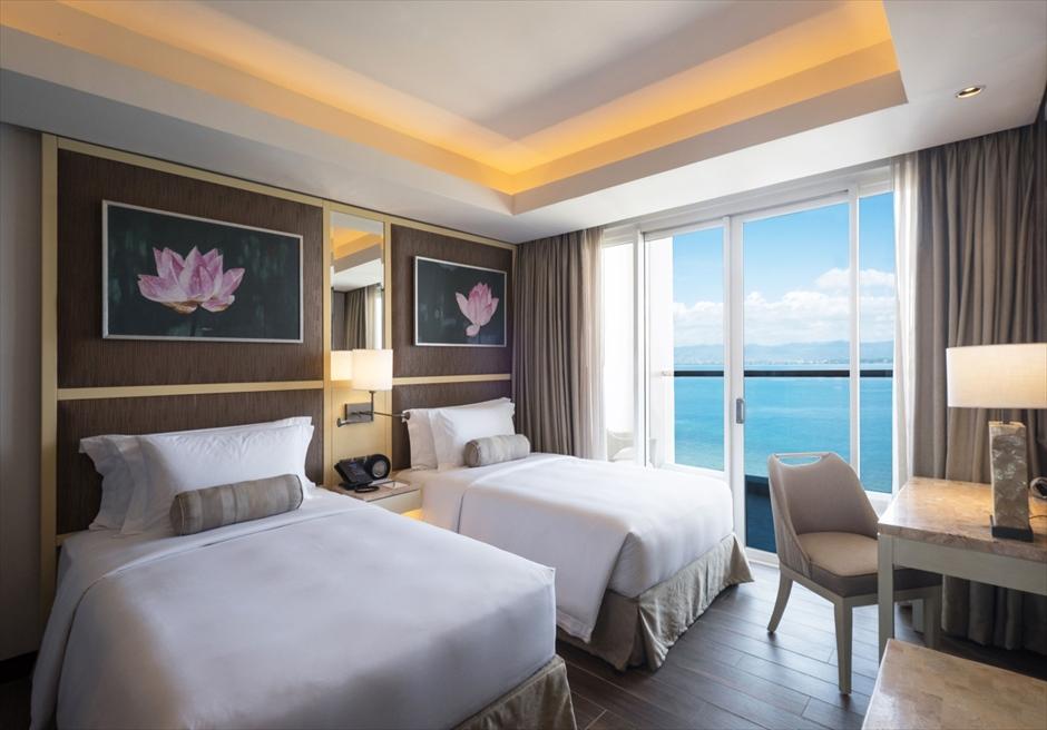デュシタニ・マクタンのハネムーンに最適な海見えの客室一例