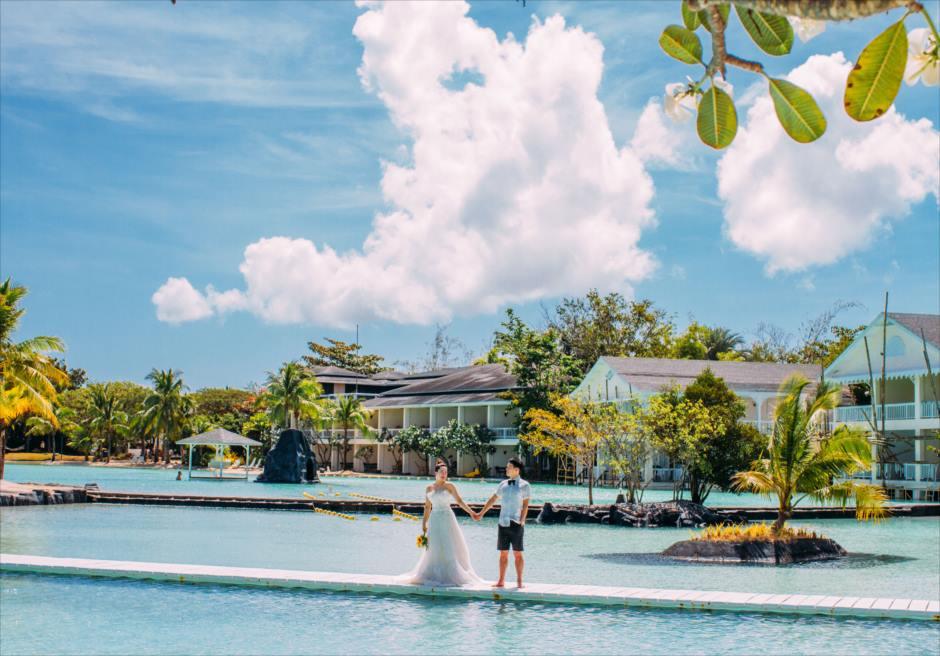 セブ島プランテーションでラグーン・フォト撮影