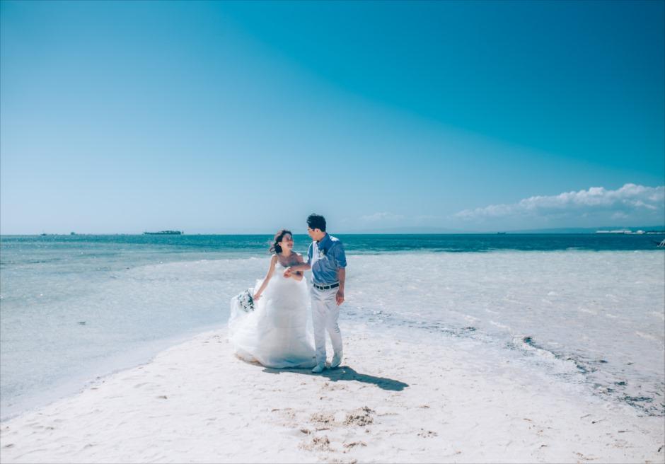 セブ島の離島でカジュアルなフォトウェディング撮影