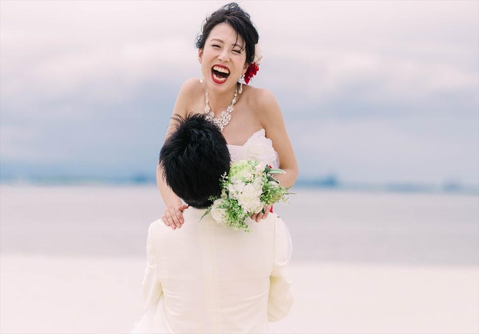 セブ島挙式前撮りはビーチでの抱っこショットが定番