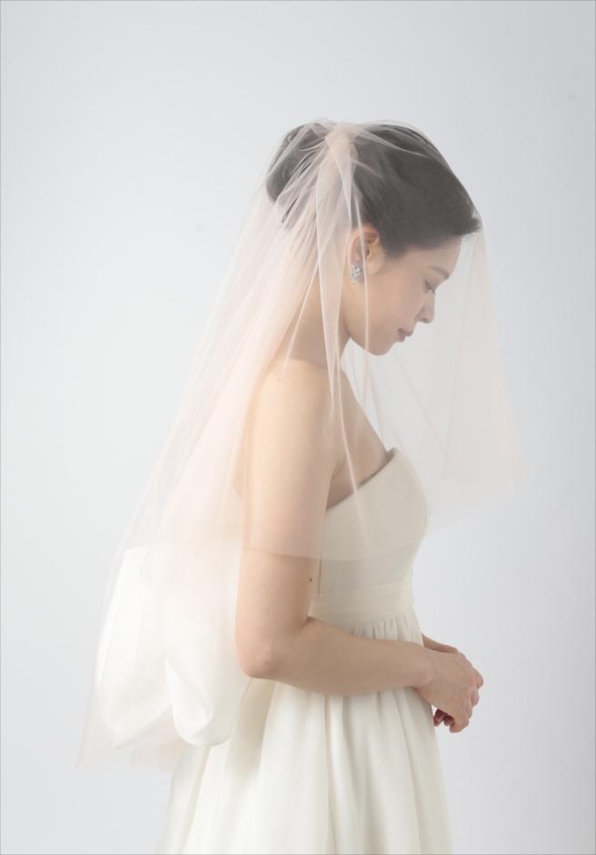 セブ島挙式前撮り ウェディングドレス・アイテム ピンク・カラーベール