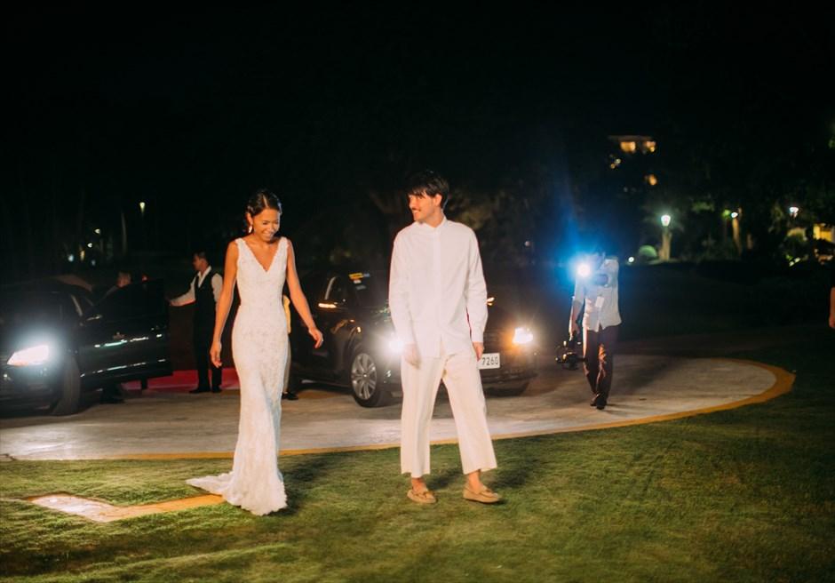 セブ島挙式後のパーティーはカジュアルダウンしたドレス
