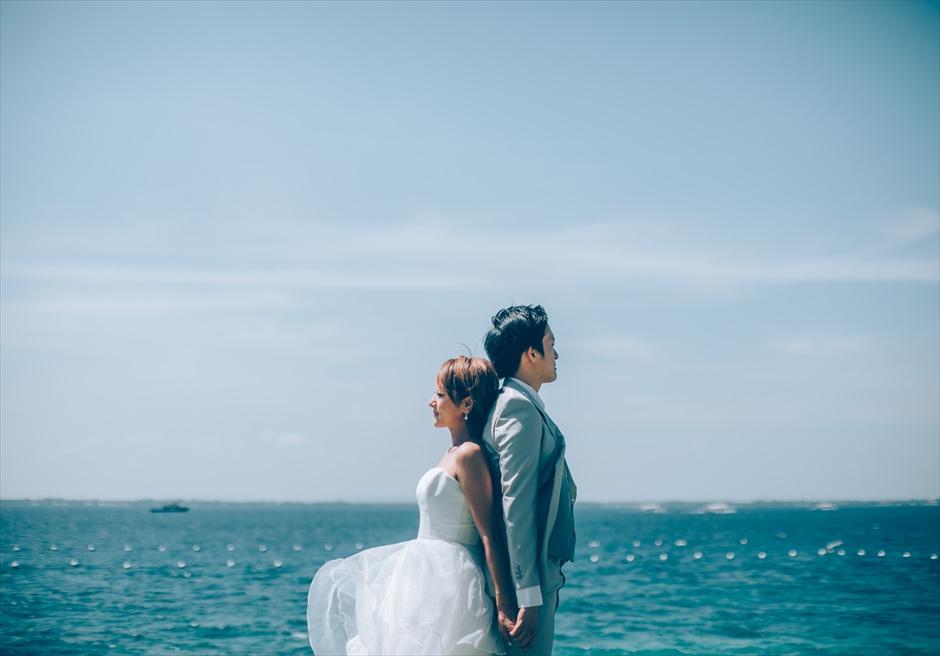 セブ島前撮り撮影を海見えのガーデンで日本人スタッフがサポート