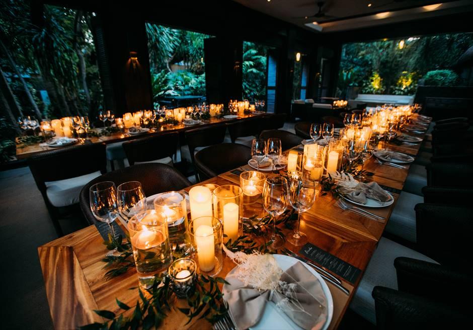 セブ結婚式・挙式 テーブルコーディネート