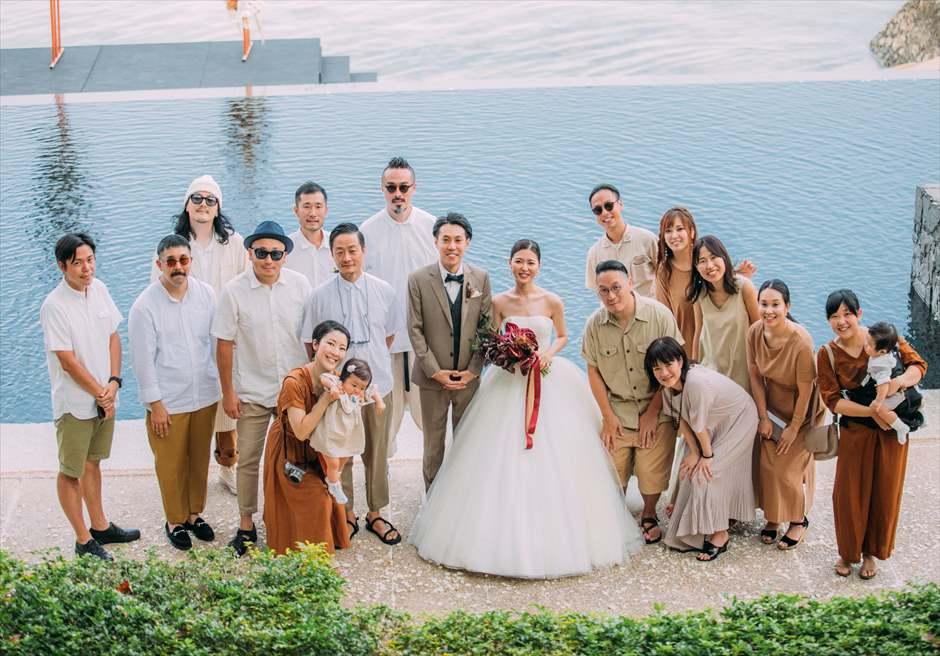 セブ島結婚式 集合写真 グループショット