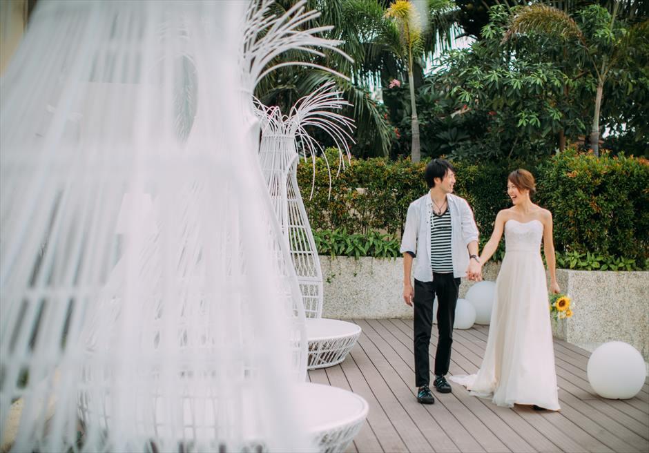 セブ島 ビーリゾート・マクタンでカップルの前撮り撮影