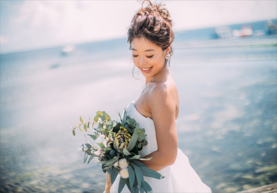 セブ島結婚式前撮り撮影 ヘアメイク・ヘアースタイル